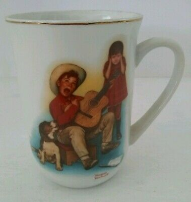 $ CDN7.55 • Buy VTG 1981 Norman Rockwell  Sour Note  Collectible Porcelain Coffee Mug