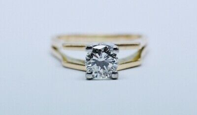 AU7999 • Buy 1.17 Ct Solitaire Diamond In 14ct Rose And White Gold Ring, K/SI2,Value $15970