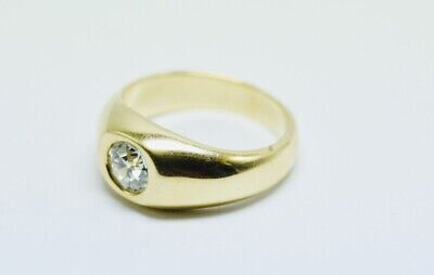 AU6999 • Buy 0.9 Ct Solitaire Diamond In 14ct Yellow Gold Ring, H, VS2 ,Value $12250