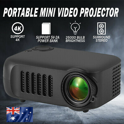 AU46.90 • Buy 1080P HD Portable Mini Video Projector HDMI Home Theater Cinema Movie Projection