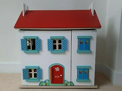 £30 • Buy Wooden Dolls House With Indoor And Outdoor Furniture And Dolls Bundle
