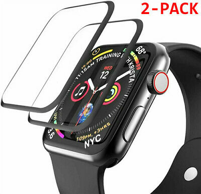 $ CDN3.76 • Buy 2-Pack For Apple Watch Series 1 2 3 4 5 6 IWatch Full Cover 3D Screen Protector