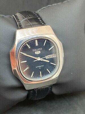 $ CDN9.52 • Buy Vintage Seiko 5 Black Dial Automatic Watch (Good CONDITION) SERVICED