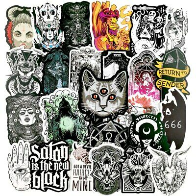 £2.89 • Buy 20 Unusual Mixed Colours Horror Gothic / Goth Stickers Laptop / Walls / PC'S