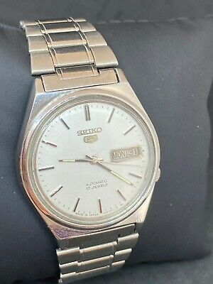 $ CDN19.91 • Buy Vintage Seiko 5 White Dial Automatic Watch (Good CONDITION) SERVICED