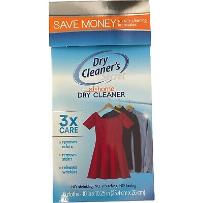 £13.90 • Buy Dry Cleaners Secret 6 Sheets The Original Dry Clean At Home Gentle Stain Removal