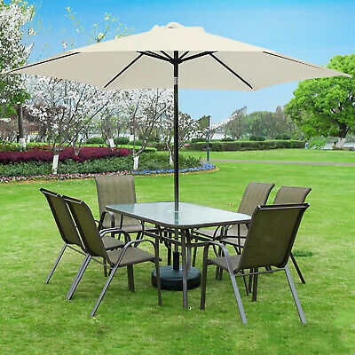 AU44.28 • Buy Garden Parasol Replacement Fabric Canopy Cover Outdoor Umbrella Top Covers
