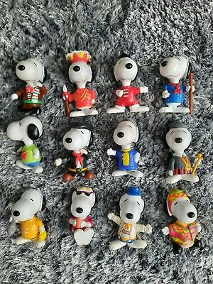 £8 • Buy 12 Vintage 1999 Snoopy World Tour Mcdonalds Happy Meal Toys