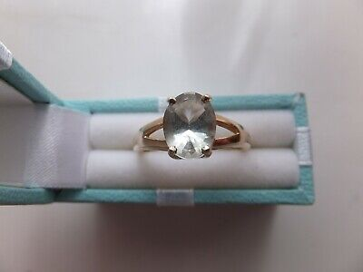 £60 • Buy 9ct Gold Green Amethyst Ring. Size N . Pre-owned