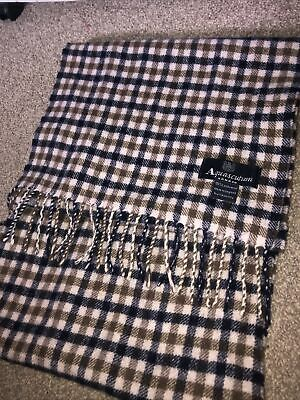 £15 • Buy Aquascutum Classic Wool Club Multi-coloured Check Scarf, Worn Out Once
