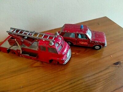 £4.99 • Buy Dinky-bedford Fire Engine And Range Rover