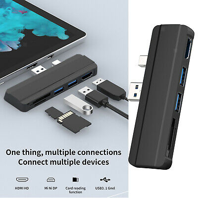 AU26.23 • Buy New USB Hub Dock Adapter Expansion For Surface Pro 3 4 5 Converter Adapter
