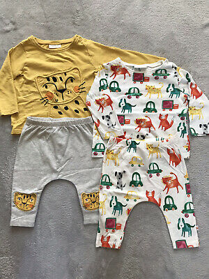 £10 • Buy Twin Baby Boys Matching / Co-ordinating Baby Clothes Bundle 3-6 Months