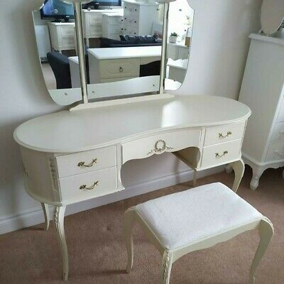 £85 • Buy French Style Dressing Table Set, Shabby Chic Desk, Louis Style, Vintage Kidney