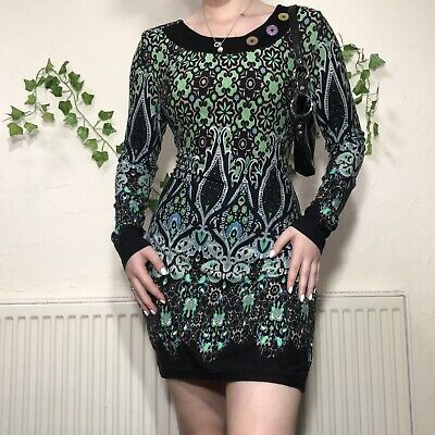 £10 • Buy Joe Browns Funky Psychedelic 60s 70sShift Dress Size 12 Work Smart Casual Summer