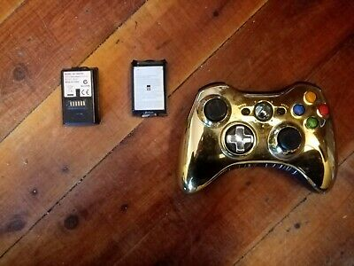 AU30 • Buy Xbox 360 Wireless Controller Genuine Gold Star Wars C3PO Rare With Extra Battery