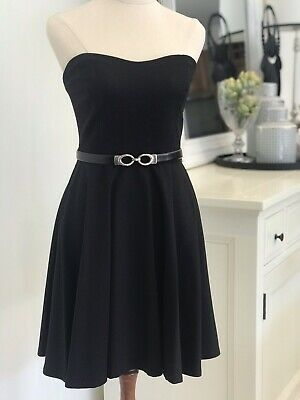 AU20 • Buy FOREVER NEW Black Strapless Fit & Flare Dress (size 8)