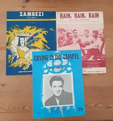 £6 • Buy Elvis Presley Crying In The Chapel Sheet Music Plus Two Others C1950S Original