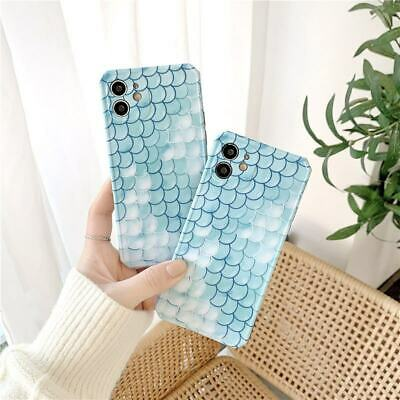 AU7.46 • Buy Cute Blue Scale Soft Rubber Case For IPhone 12 Pro Max 7 8+ 11 XS XR Phone Cover