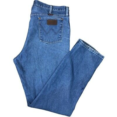 $29.97 • Buy Vtg Wrangler 31 Relaxed Fit Cowboy Cut Jeans Mens Tag 38x36 Distressed (39x35)