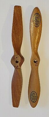 £12 • Buy Pair X2 Vintage 8  Wooden Model Aircraft Propellors Trupitch RC Airplane Radio