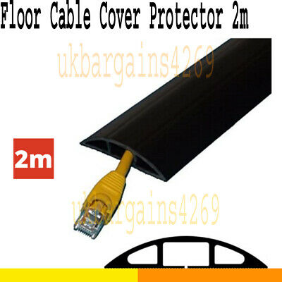 £17.69 • Buy 2m Floor Cable Cover Protector Rubber Heavy Duty Trunking Wire Lead Trip Bumper