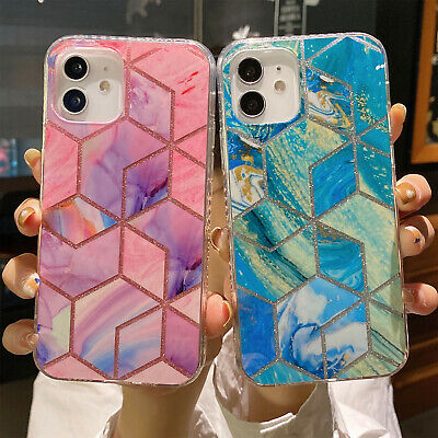 AU8.99 • Buy For IPhone 12 11 Pro Max XS XR 7 8 Plus SE2 Shockproof Marble Rubber Case Cover