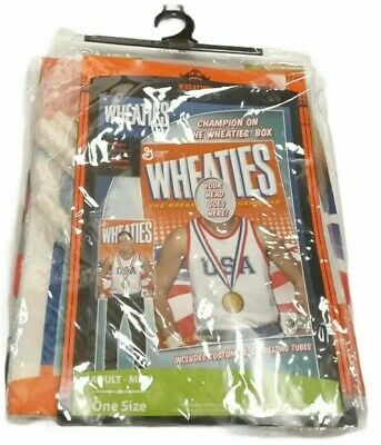 £17.89 • Buy NEW MENS CEREAL BOX WHEATIES STAND UP HALLOWEEN COSTUME OS Olympic USA Adult