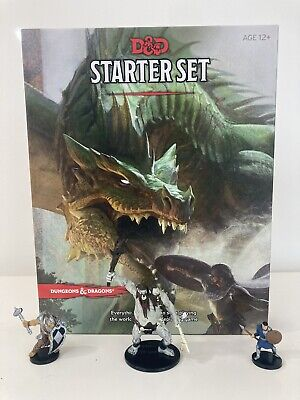 AU35 • Buy Used Dungeons & Dragons D&D Starter Set 5th Edition Including 3 Miniature Figure