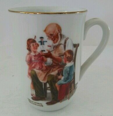 $ CDN7.55 • Buy VTG 1982 Norman Rockwell Museum  The Toymaker  Collectible Porcelain Coffee Mug
