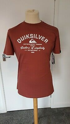£14.99 • Buy Quicksilver Mens T-shirt. Red. Small. New With Tags. Genuine