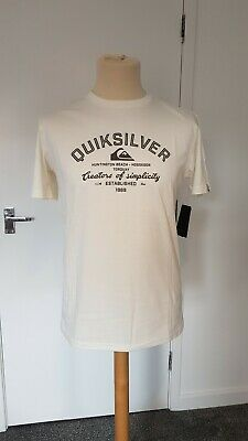 £15.99 • Buy Quicksilver Mens T-shirt. White. Medium. New With Tags. Genuine