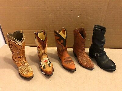 £7 • Buy 5 Vintage Miniature Boots, Country / Motorcycle, JPC, Just The Right Shoe, Raine