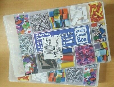 £8 • Buy Pair Of Really Useful Box 15 Compartment Hobby Trays