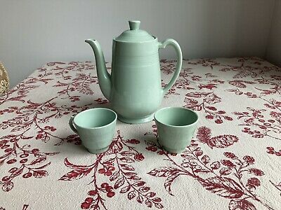 £12.99 • Buy Woods Ware Beryl Green Coffee Pot And 2x Espresso Cup Set