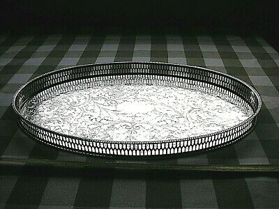 £22 • Buy VINTAGE VINERS OF SHEFFIELD CHASED OVAL SILVER PLATED TRAY Approx 39cm X 25cm.