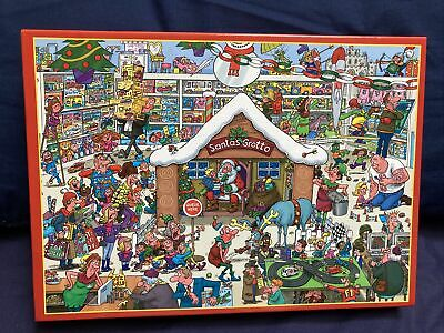 £2.99 • Buy Express Gifts 1000 Piece Jigsaw Puzzle Santa's Grotto Completed Once From New