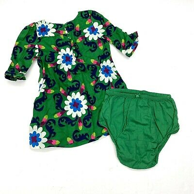 £6.09 • Buy Baby Gap Retro Floral Dress Sz 12-18 Months Girls Kelly Green Bloomers Cotton