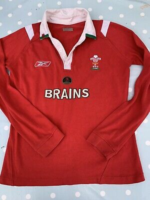 £7.50 • Buy Womens Wales Rugby Union Shirt Vintage Reebok Size 10