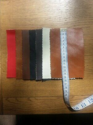 £4.19 • Buy 7 Real LEATHER Pieces - Offcuts, Samples, Remnants - Craft, Repairs.. 15x10cm