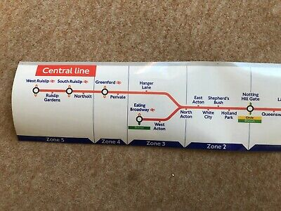 £25 • Buy Central Line Route Map - Old Version West Ruislip In Zone 5