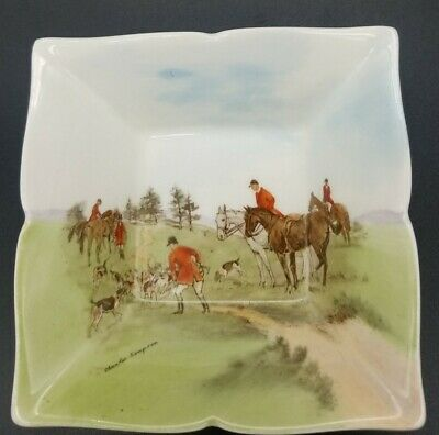 $ CDN34.62 • Buy Royal Doulton 'Gone To Ground' Hunting Scene Square Dish D6326 Charles Simpson