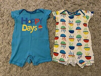 £2.99 • Buy Baby Boys Ladybird Short Sleeve Romper Suits Age 3-6 Months