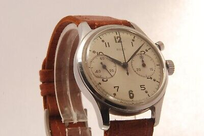 £2150 • Buy Vintage Birks Military Lemania Single Button Chronograph Canadian Airforce Rcaf