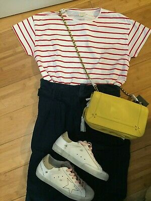 £25 • Buy AG Jeans £155 Adriano Goldschmied Paper Bag Waist High Waisted Jeans Trousers 10