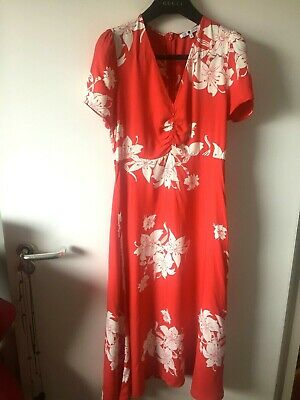 AU46.71 • Buy Alexa Chung Archive M&S Marks And Spencer MISTY Midi Maxi Red Floral Dress 8 10