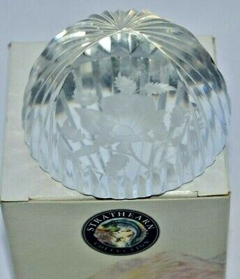 £10 • Buy Stuart Crystal - Strathearn Collection - Rose Paperweight