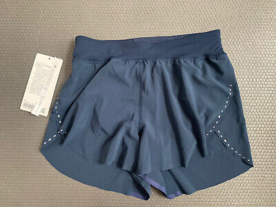 """$ CDN74.67 • Buy Lululemon Find Your Pace Lined High-rise Short 3"""" True Navy SZ 4 NEW DEFECT"""