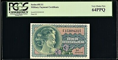 $129.50 • Buy Series 692 Military Payment Certificate MPC $1 PCGS Very Choice New 64PPQ