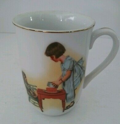 $ CDN7.55 • Buy VTG 1981 Norman Rockwell  Party Time  Collectible Porcelain Coffee Mug